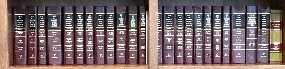 law books in a bookcase